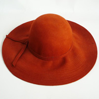 hat with a bow band