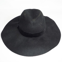 hat with velvet band