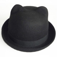 felt hat with ears