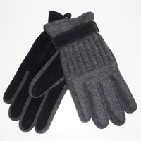 fabric and pig suede joint glove