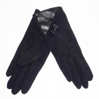 black glove with bow