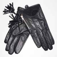glove with fringers
