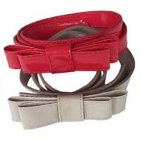 belt with bow buckle