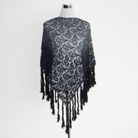 long fringers dip dye triangle scarf