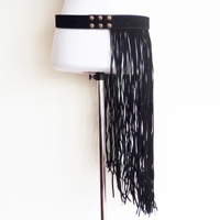 long fringers belt