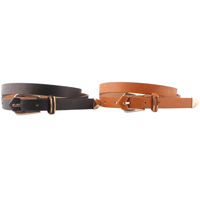belt with covered buckle