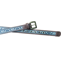 belt with aztec pattern band