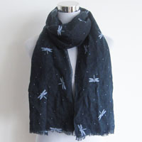 printed polyester soft scarf