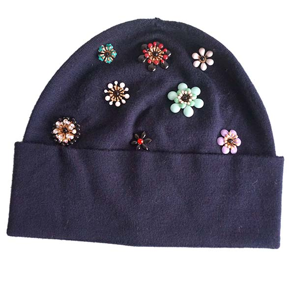 beanie with pins